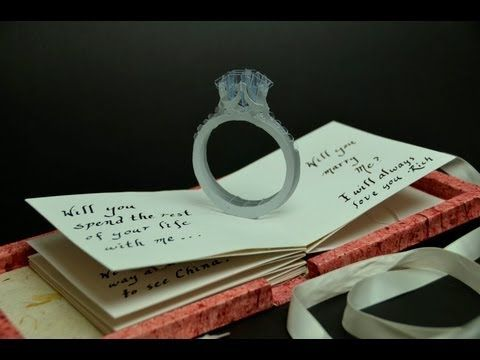 Pop Up Proposal Card--This is so awesome.