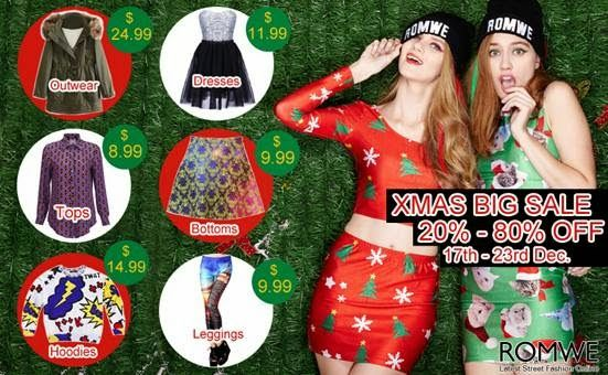 Shopping with Glenz: Romwe Xmas big sale!