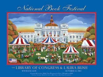 2002 Library of Congress National Book Festival Poster. Poster Artist: Carol Dyer.