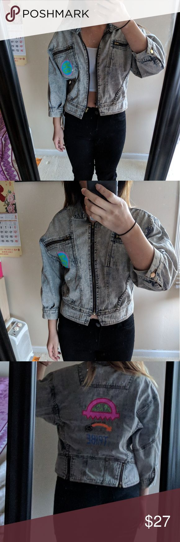 Stussy acid wash jean moto jacket Cassette Playa X Stussy Tribe. Acid wash motto jean jacket. New without tags. Stussy Jackets & Coats Jean Jackets