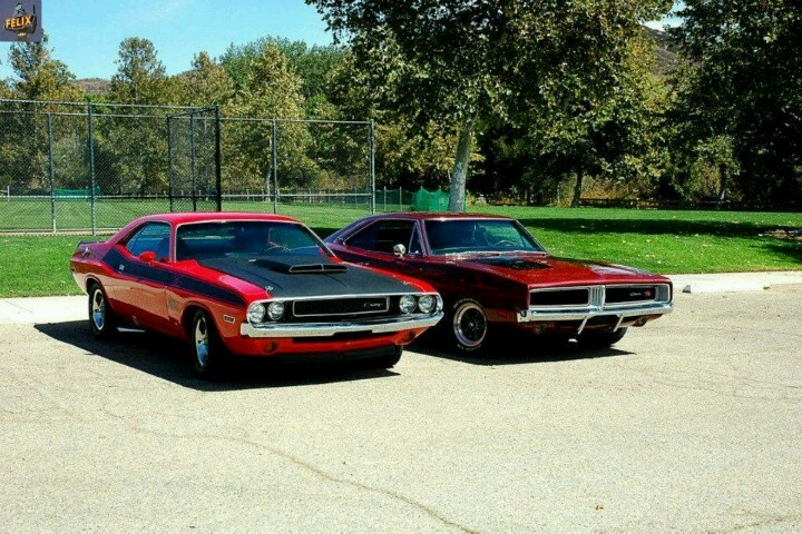 1969 Charger and 1970 Challenger