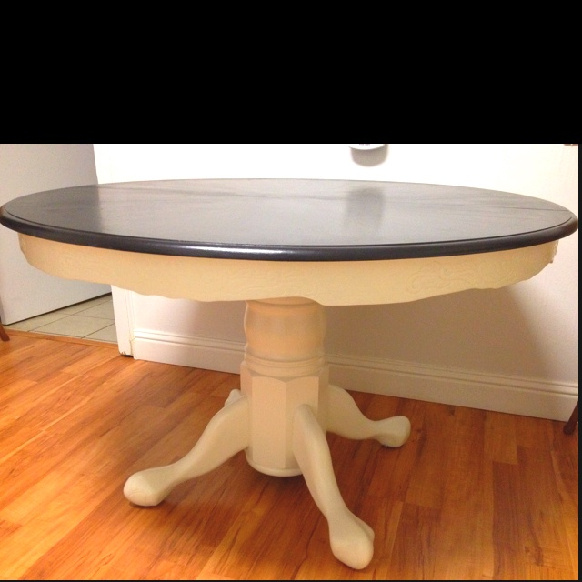 25 best ideas about painted oak table on pinterest round oak dining table refinish table top - Refinish kitchen table top ...