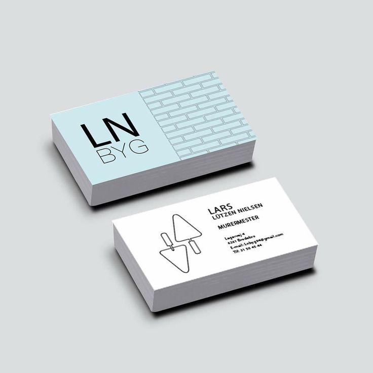 LN BYG business card #businesscard #danish #business #graphic #design #young #identity #buildingcompany #dk #denmark #visitkort #visuelidentitet #grafiskdesign #ungt #udtryk