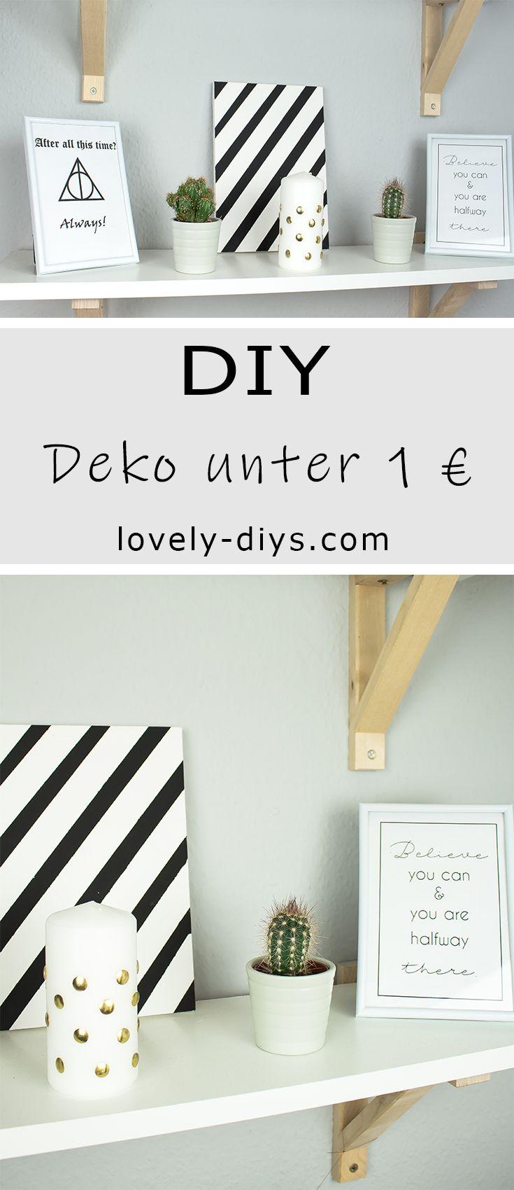3 Schone Diy Deko Ideen Unter 1 Euro Basteln Diy Deko Ideen Deko Ideen Diy Deko