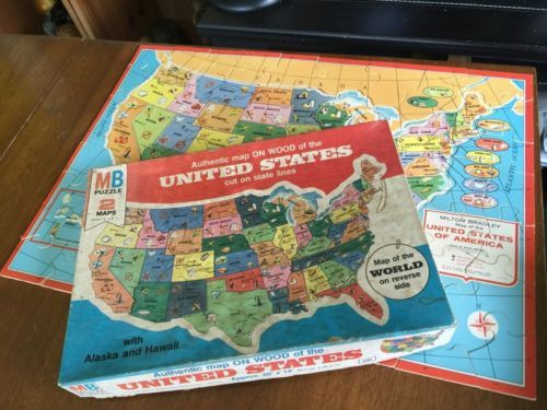 Best My Jigsaw Mania Images On Pinterest Jigsaw Puzzles - Us jigsaw map wood