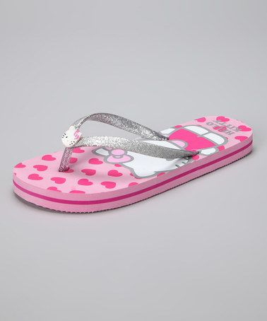 Take a look at this Pink Hello Kitty Hearty Flip-Flop by Hello Kitty on #zulily today!