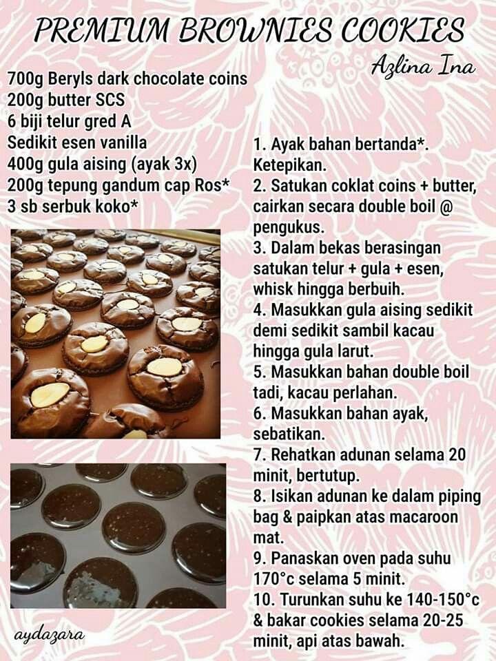Premium Brownies Cookies Brownie Cookies Cookie Recipes Resepi Cookies