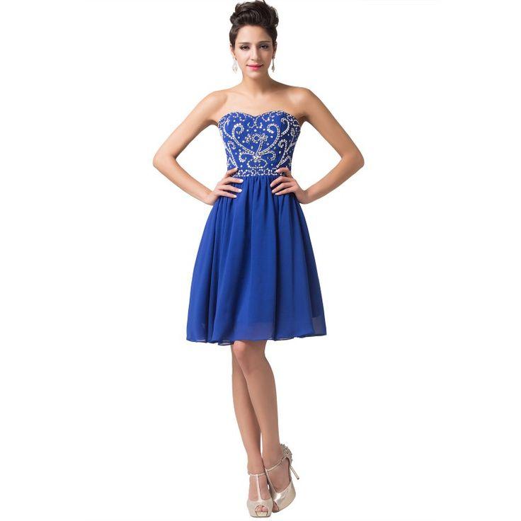 Modré spoločenské šaty CL6049-4