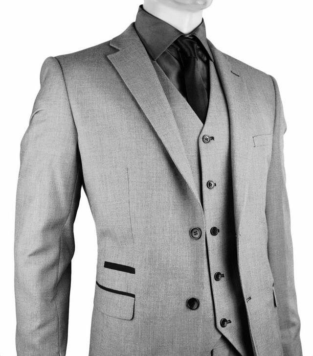 grey 3-piece suit