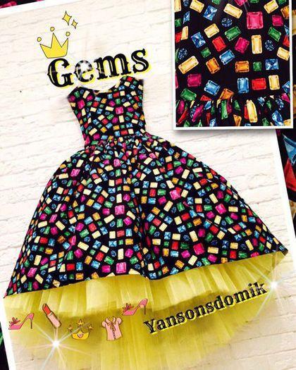 """Одежда для девочек, ручной работы. Ярмарка Мастеров - ручная работа. Купить Пышное платье """"Yansonsdomik"""" . Ассорти. Handmade. Платье"""