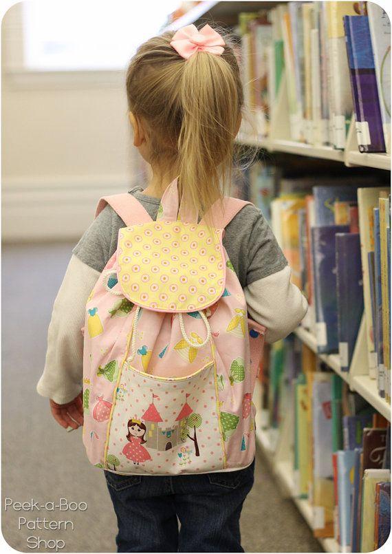 Lil' aventurier sac à dos modèle : enfants par PeekabooPatternShop