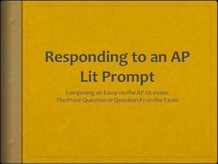 Ap lit rubric essay