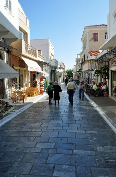 Ample street in Chora