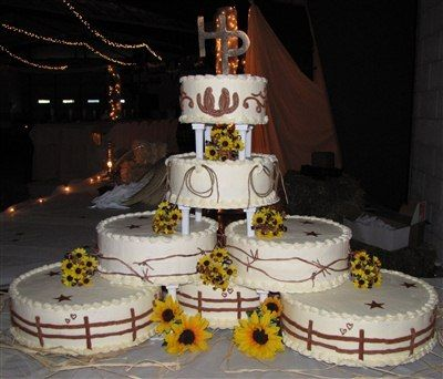 Western Wedding Cakes | The cake maker was our friend Dianna. Here she is serving the it. Jeff ...