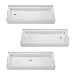 @Overstock - The Amazon shower tray by DreamLine is designed to match standard tub sizes, allowing for a cost effective tub-to-shower conversion. This rectangular single threshold shower tray is made of quality acrylic/ABS material.http://www.overstock.com/Home-Garden/DreamLine-Amazon-60x30-inch-Tub-Replacement-Shower-Tray/4821857/product.html?CID=214117 Add to cart to see special price
