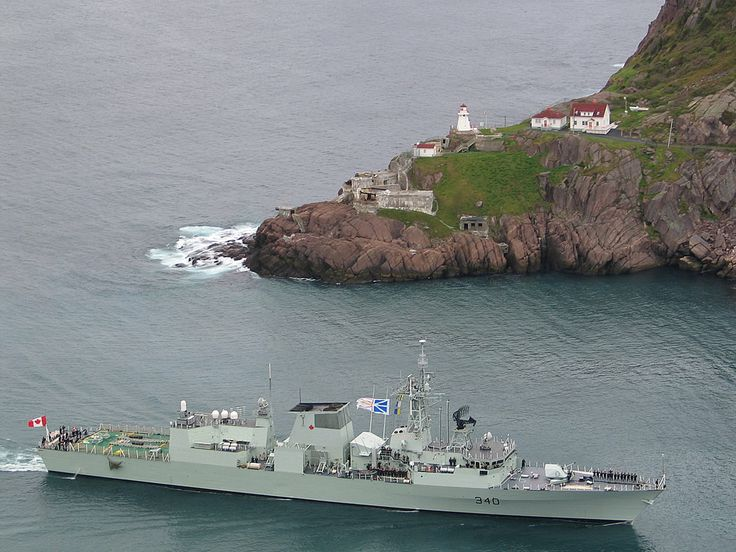 Royal Canadian Navy Halifax class frigate HMCS St Johns.