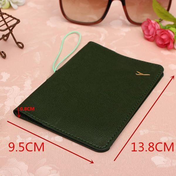 Traveling Leather Passport Card Case Document Holder $3.77