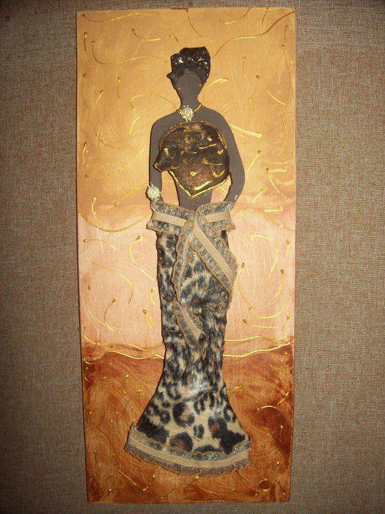 cuadro africana realizado por olga gonzález