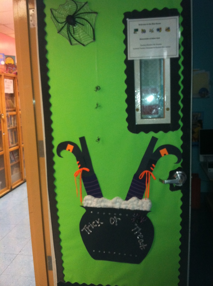 Classroom Decoration Ideas Forklift ~ Images about halloween teacher doors for trick or