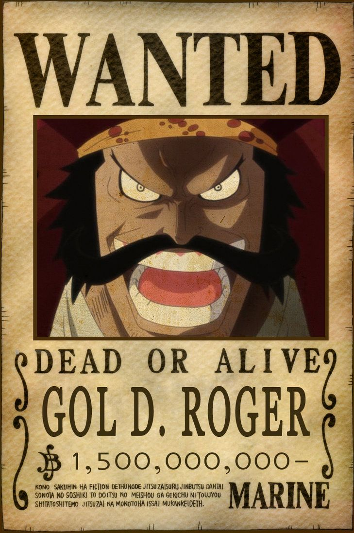 Gol d roger bounty by animegalaxyhd d5hhvbb one piece - Affiche wanted one piece ...