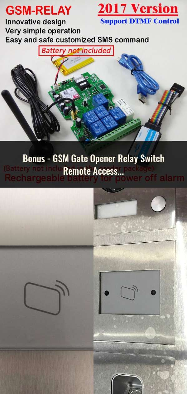 GSM Gate Opener Relay Switch Remote Access Control Wireless