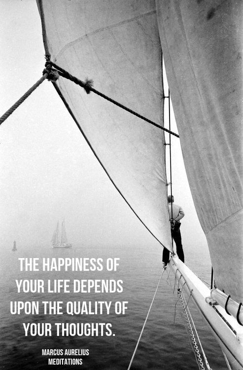 """The happiness of your life depends upon the quality of your thoughts.""  ― Marcus Aurelius, Meditations.  Click on this image to see the biggest collection of famous quotes on the net!"