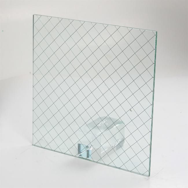 Wireglass Glass Type Float Technique Tempered Glass Fire Resistant Glass Thickness 3mm 4mm 5mm 6mm 8mm 10mm 12mm 15m Wired Glass Tempered Glass Glass