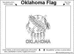 oklahoma symbols | Oklahoma Flag Printout  (use with states and capitals unit)                                                                                                                                                                                 More