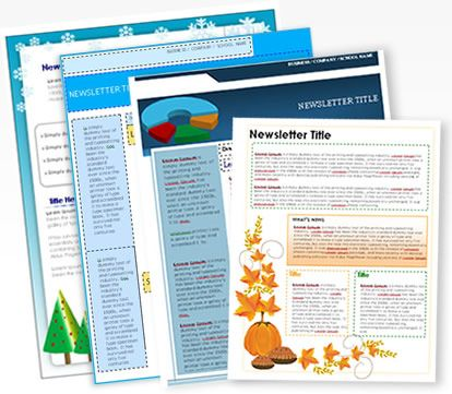 Newsletter templates - check this one out when I have more time.