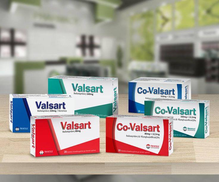 Σχεδιασμός συσκευασίας φαρμάκου Valsart - Co-Valsart packaging #medicine #packaging #design #package
