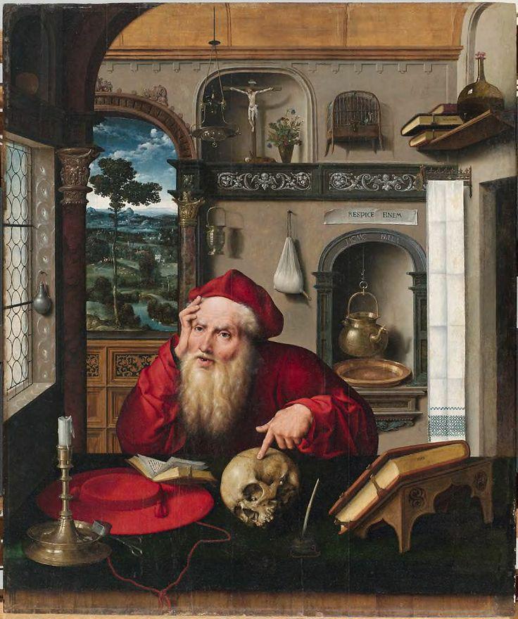 Joos van Cleve, Saint Jerome in His Study, 1521