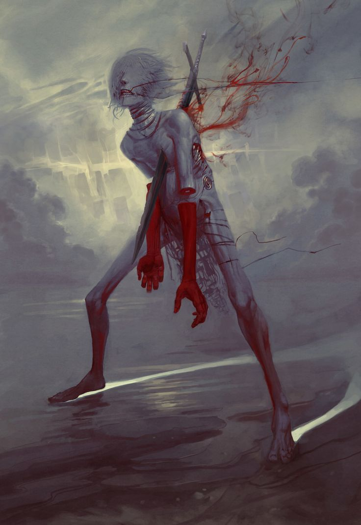 Af, Angel of Anger - Art by Peter Mohrbacher - from The Watchers - Angelarium