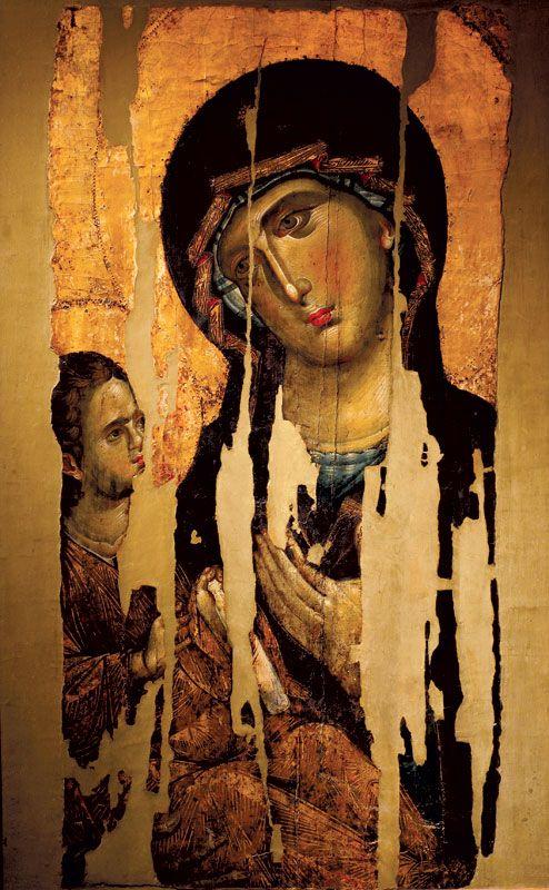ИКОНАБогородица са Младенцем, 60-е године XIII века, Манастир Хиландар, Света Гора