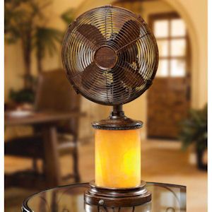 Delightful Marble Table Top Fan/Lamp   Decorative Table Fans And Portable Fans In Many  Unique Styles. These Oscillating Table Top Fans Are Perfect For Your Desk  Or ...