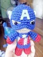 Ravelry: Captain America Amigurumi pattern by Chozel Lorenzo