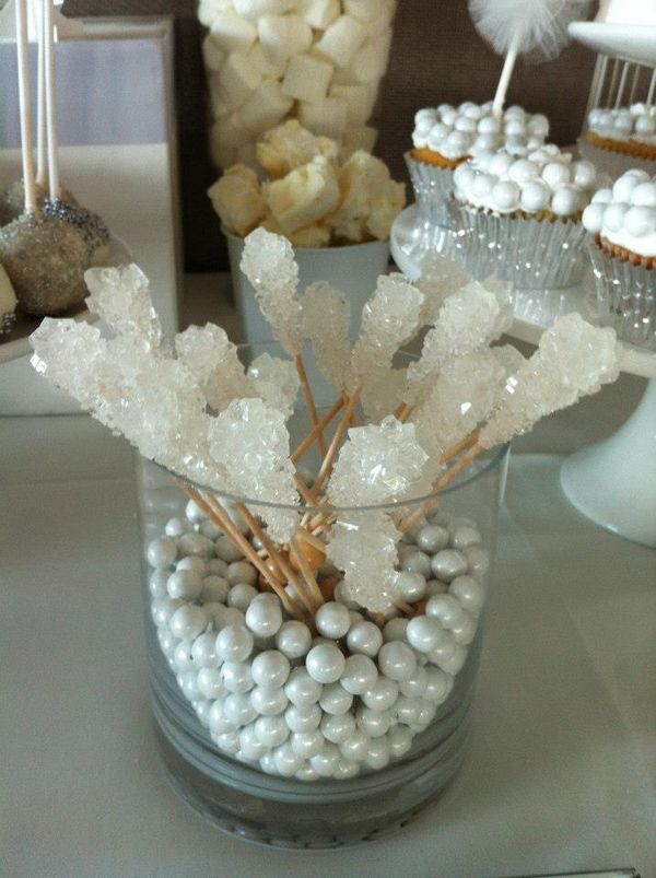 White and Silver Wedding via Karas Party Ideas   KarasPartyIdeas.com #white #silver #wedding (19)