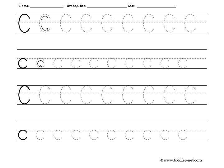 tracing letter c preschool for homeschool pinterest letter c worksheets letter c and letters. Black Bedroom Furniture Sets. Home Design Ideas