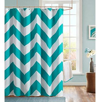 Mi-Zone Libra Teal Microfiber Shower Curtain at www.younkers.com