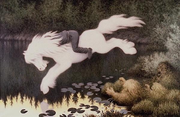 Theodor Kittelsen, white horse