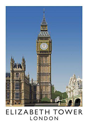 Elizabeth Tower, London Art Print (Day) (A3) Chequered Ch... https://www.amazon.co.uk/dp/B01M8IHS41/ref=cm_sw_r_pi_dp_x_4vuaybADJAPHE