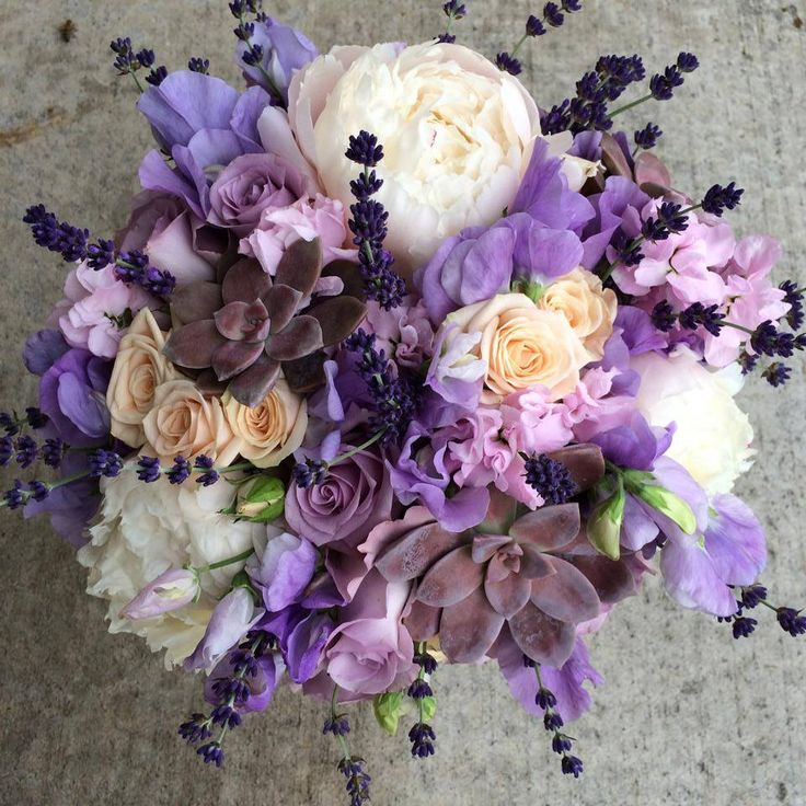 Lavender Rose Gypsophila Bridal Bouquet: 393 Best Purple Wedding Flowers Images On Pinterest
