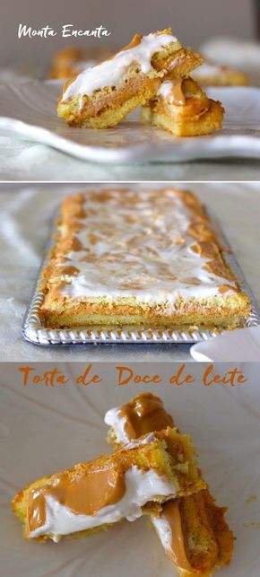Torta de Doce de Leite deliciosa, em duas camadas finas e fofíssimas de bolo pão de ló. Molhada por uma caldinha de açúcar com baunilha e conhaque no ponto certo. …