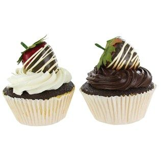 Pumpernickel Market Faux Cupcakes with Strawberries on Top | Shop Hobby Lobby