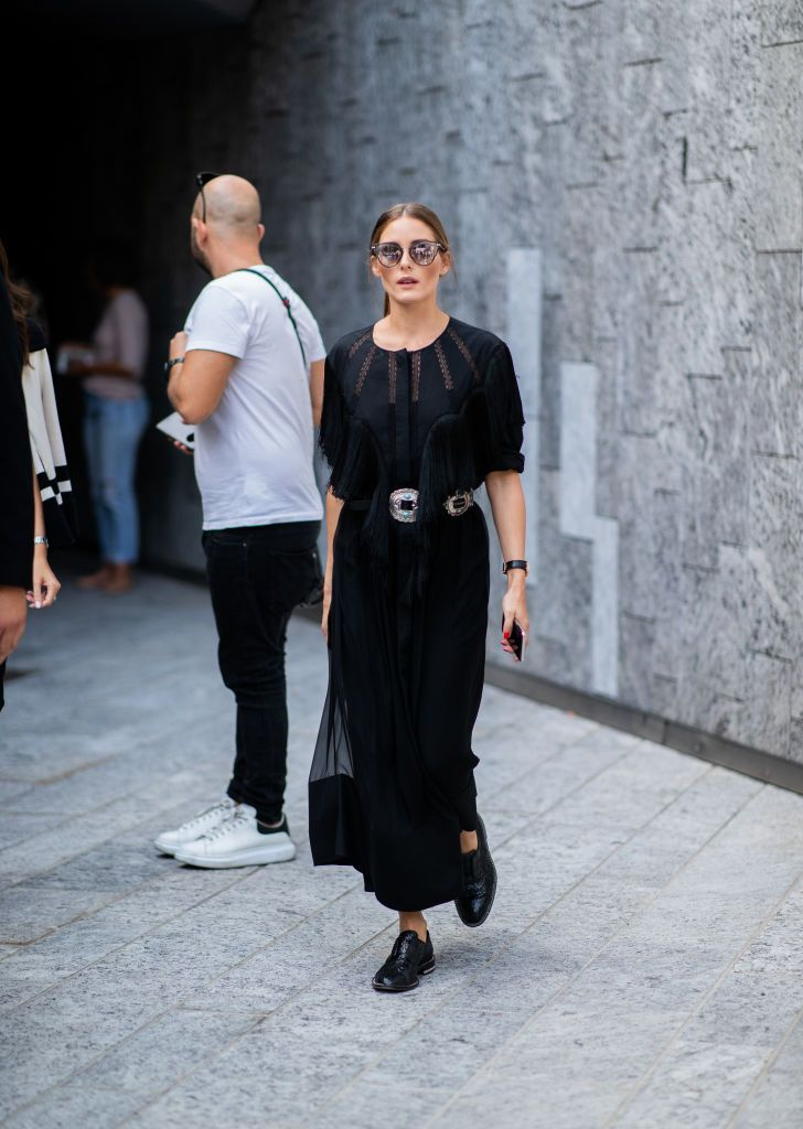 6bce828345 MILAN, ITALY - SEPTEMBER 19: Olivia Palermo wearing black dress, Jimmy Choo  sunglasses seen outside Alberta Ferretti during Milan Fashion Week  Spring/Summer ...