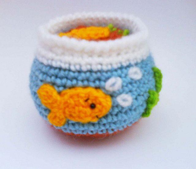 Goldfish Tank Crochet Pattern by HandmadeKitty=^_^=, via Flickr