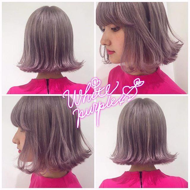 @arimayurina のNew color  . 全体はホワイトなパープルで、前髪と毛先のところだけニュアンスでピンク . キラッキラなハイトーンは、 ブリーチが命です ハイトーンの施術得意です 髪の状態に適した施術で、 ダメージリスクを軽減しましょ! ぜひおまかせください . #SHIMA #seki_color #pink #ハイトーン #MERY #LARME #shima_kichijoji
