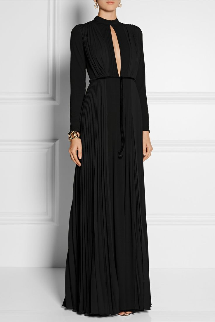 Issa | Bianca pleated crepe and stretch-jersey gown | NET-A-PORTER.COM