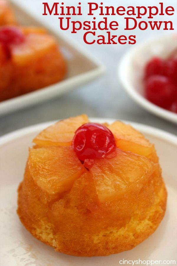 These Mini Pineapple Upside Down Cakes are perfect for serving up a yummy individual dessert. They are both super simple and super tasty. Such a fun twist o
