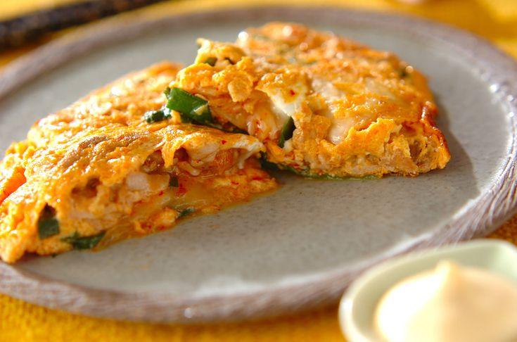 豚キムチの卵焼きのレシピ・作り方 - 簡単プロの料理レシピ   E・レシピ
