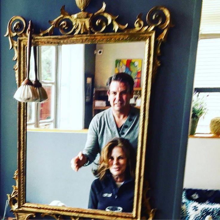 Master celebrity stylist Scott Bond hard at work www.byrdeandtheb.com #celebrity #hairstylist #scottbond #haircut #haircolor #style #chic #love #women #men #farmtosalon #byrdeandtheb #litchfieldcounty #nyc #la #goodvibes #smile